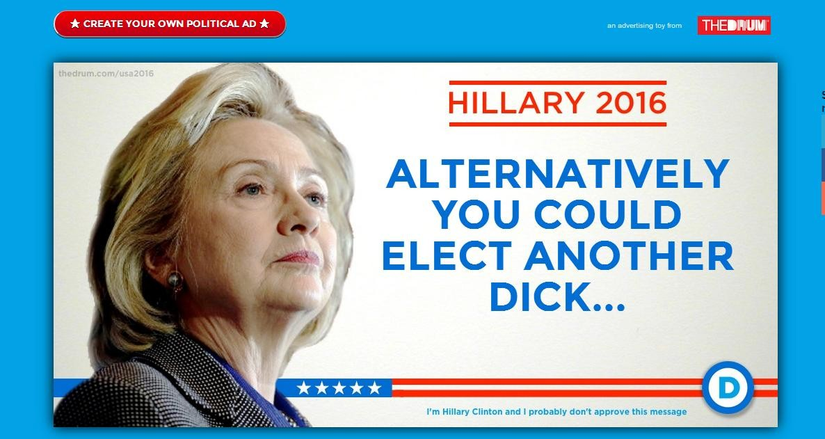 create your own political ad for hillary clinton s presidential