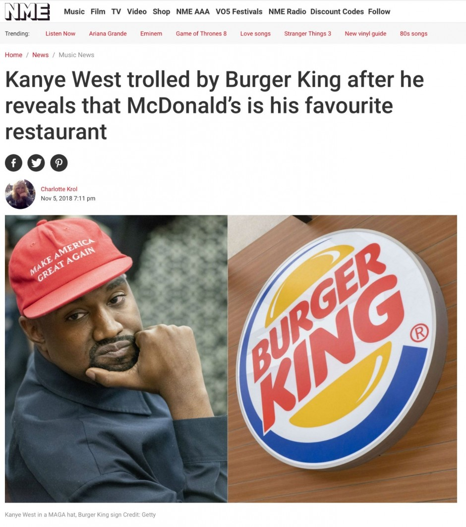Kanye stand the heat? How Burger King UK went viral with just three words