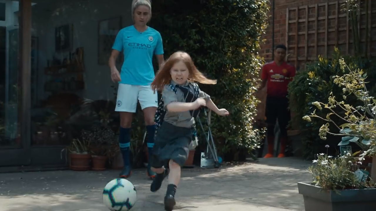 Bt Sport Unleashes Super Charged Schoolgirl To Nutmeg And Tackle Its