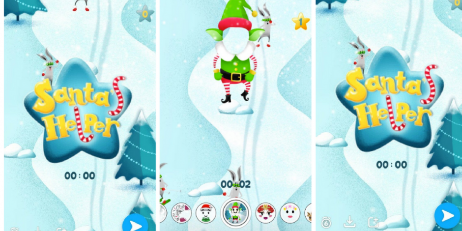 santas little helper snapchat unveils interactive christmas themed selfie filter game